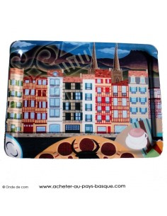 Plateau de service - tableau bayonne - boutique produit regionaux - epicerie basque Bascothentic - Bidart