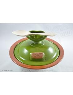Wok céramique vert - Terre cuite de Jean de la Terre - Ekibidea Cambo les Bains