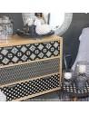 Commode motif graphique ambiance Jardin d'Ulysse - Pas Sage et des rêves Biarritz - boutique décoration