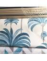 Palmeraie thevenon bleu azur ambiance tropicale - Tissus Ameublement - Tissus des Docks de la Negresse mercerie - Biarritz