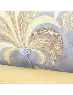 Palmeraie thevenon moutarde - Tissus Ameublement - Tissus des Docks de la Negresse mercerie - Biarritz