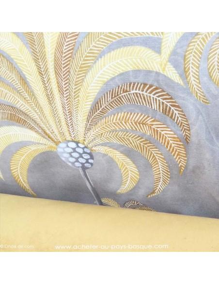 Palmeraie thevenon moutarde ambiance - Tissus Ameublement - Tissus des Docks de la Negresse mercerie - Biarritz