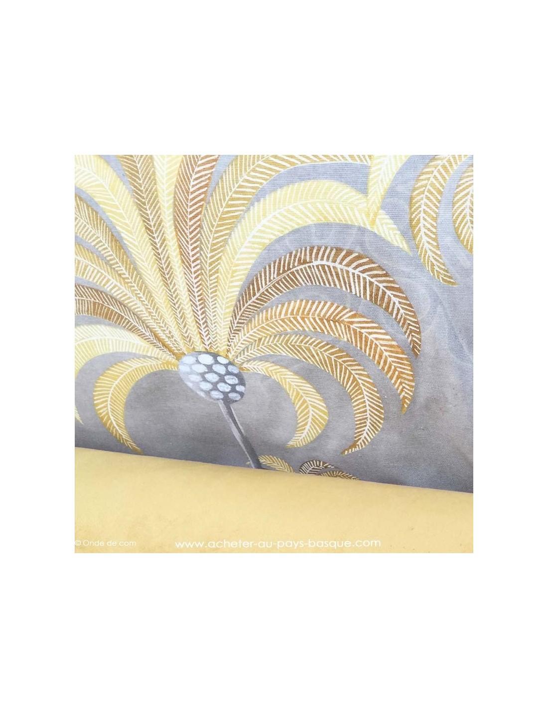 palmier thevenon moutarde tissus ameublement docks negresse biarritz. Black Bedroom Furniture Sets. Home Design Ideas