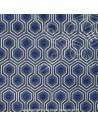 Optimo thevenon bleu - Tissus Ameublement -  Docks de la Negresse mercerie Biarritz