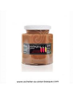 CHOCOTEGIA pâte à tartiner Chocolat praliné au piment d'Espelette - Bipertegia producteur Basque Espelette en vente