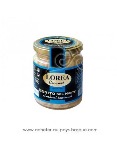 Bonite thon naturel Lorea bocal sans sel - epicerie espagnole - cuisine conserve basque - livraison course à domicile