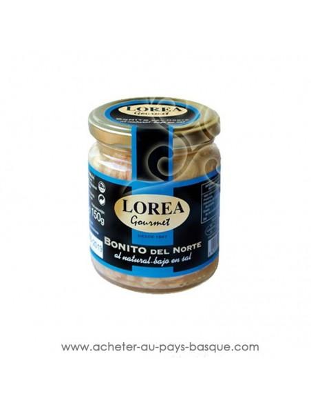 Bonite thon naturel teneur faible en sel Lorea 225g