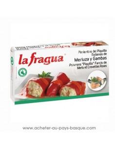 conserve poivron farcis au merlu gambas la fragua - aperitif conserve espagnole - epicerie produits espagnols - livraison