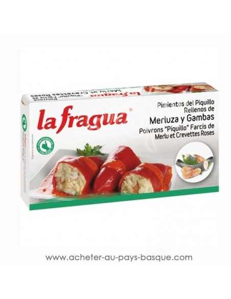 Conserve Pimentos Piquillos farcis merlu gambas La Fragua