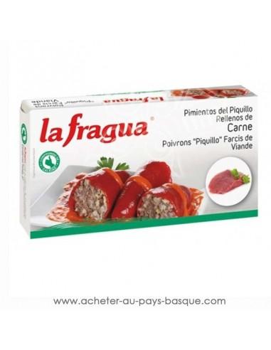 poivrons farcis a la viande la fragua - aperitif conserve espagnole - epicerie produits espagnols - livraison a domicile