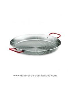 Poêle à paella en acier poli de 40 cm El Cid - boutique accessoire cuisine plat espagnol - cuisson faitout