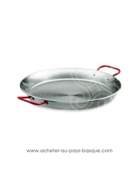 Poêle à paella en acier poli different diametre