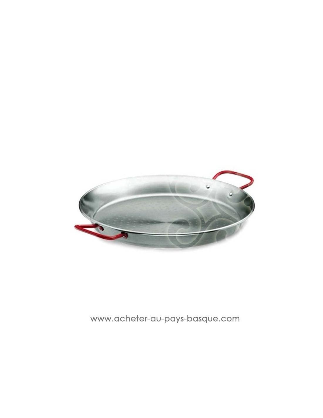 Fabricant Poele A Bois Espagne poêle à paella en acier poli de 40 cm el cid - boutique espagnole