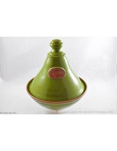 Tajine céramique en Terre cuite verte - Jean de la Terre - Ekibidea Cambo les Bains