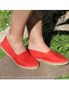 Espadrille Rouge classique basque Prodiso Mauléon Maité - artisan fait main - chaussure traditionnelle - France