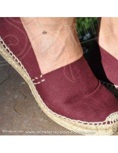 Espadrille bordeaux cousue main basque Prodiso Mauléon Marixu - artisan - chaussure traditionnelle - France
