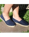 Espadrille bleu marine cousue main basque Prodiso Mauléon Marixu - artisan - chaussure traditionnelle - France