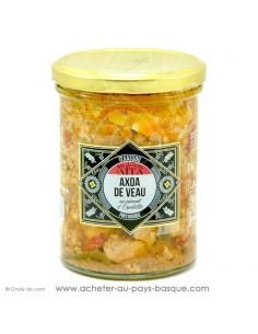 Axoa de veau 390 gr au piment d'Espelette - les délices d'aita itxassou - epicerie fine - plat cuisiné conserve basque