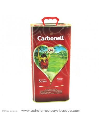 Huile légère 0,4L d'olive Carbonell 5 litres