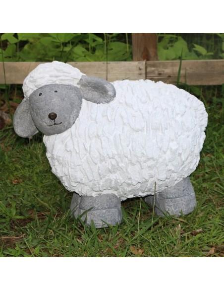 Mouton Basque en résine Blanc et gris - jardin salon chambre terrasse intérieur extérieur déco Pas Sage et des rêves Biarritz