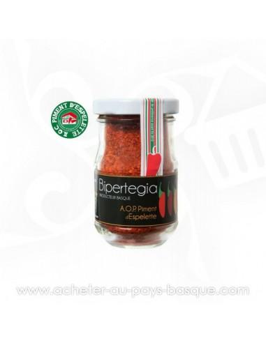 Piment d'Espelette AOP en pot - Bipertegia producteur Basque - Espelette en vente