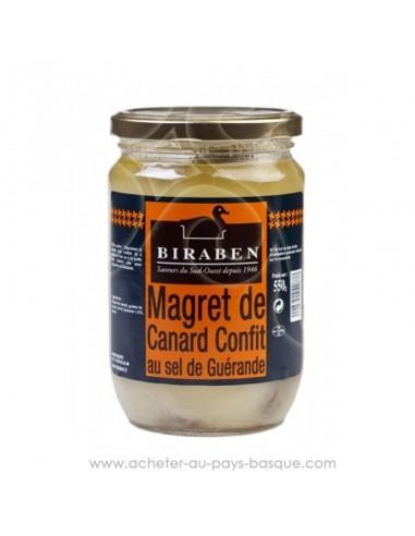 Conserve magrets de canard confits 550g Biraben - producteur Béarn - spécialité basque - en vente en ligne