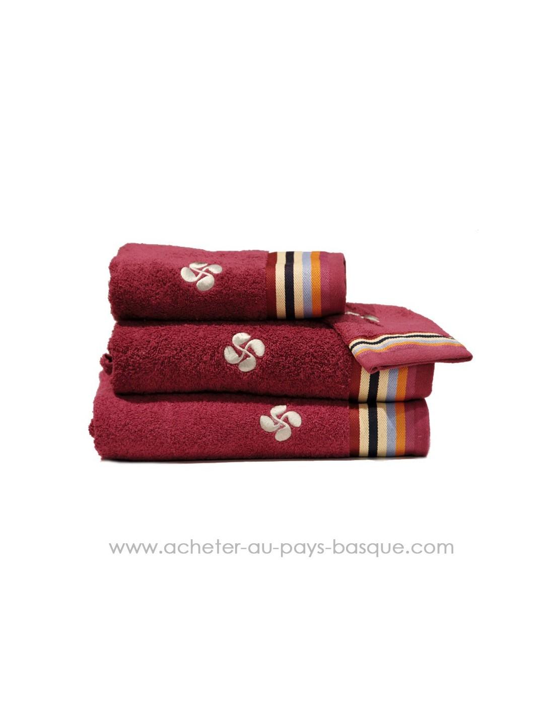 lot serviette de bain toilette tissus dussau saint jean de luz. Black Bedroom Furniture Sets. Home Design Ideas