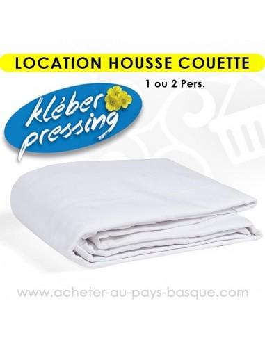 Location housse de couette 1 et 2 personnes - pressing kleber Biarritz lav pro