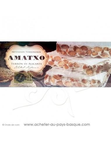 Turron AMATXO Alicante  nougat dur croquant - epicerie confiserie espagnole - livraison produit espagnol