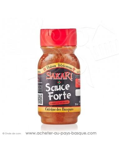 sauce basque  sans gluten - sauce sakari forte - epicerie basque - conserve recette traditionnelle basque petricorena