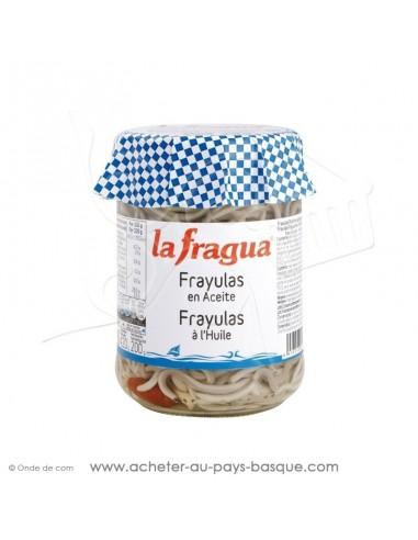 Frayulas à l'huile - fausse Pibale civelle anguille - Produit Espagnol marque la fragua - épicerie espgnole