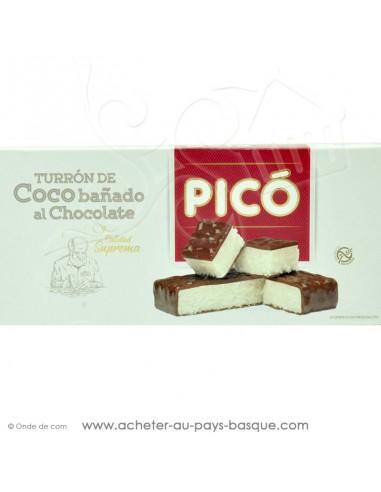 Turron Noix de coco - chocolat - Pico tourron - epicerie confiserie espagnole - livraison produit espagnol