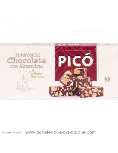 Turron de chocolat aux amandes - Pico tourron - epicerie confiserie espagnole - livraison produit espagnol
