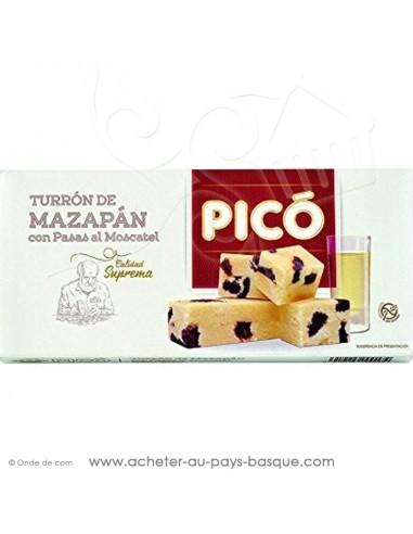 Turron de Mazapan avec des raisins au Moscatel - Pico touron - epicerie confiserie espagnole - livraison produit espagnol