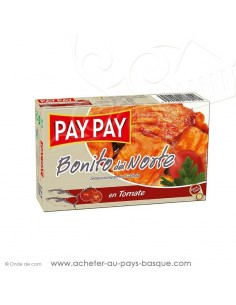 Bonite à la tomate Bonito del norte - Pay Pay - nutritionnelle- conserve epicerie produits espagnols - livraison  biarritz