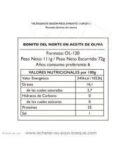 Bonite à l'huile d'olive Bonito del norte - Pay Pay - conserve epicerie produits espagnols - livraison bayonne biarritz anglet