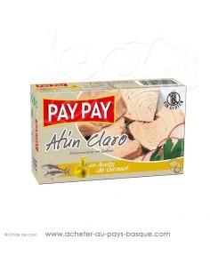 Thon à l'huile de tournesol Pay Pay - aperitif conserve espagnole - livraison a domicile bayonne biarritz anglet
