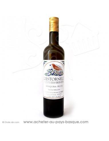 Huile d'olive extra vierge l'Estronell de qualité supérieure d'Arbequina Picual - espagnole cuisine basque