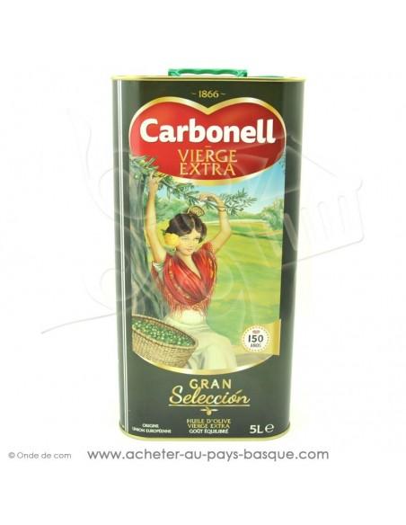Huile d'olive Carbonell bidon 5 litres - espagnole cuisine conserve basque - livraison course à domicile - nouvel emballage