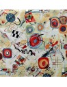 Tissu Ameublement  jacquard Kandy Miro peintre espagnol : coussins, double-rideaux restauration de fauteuil - Docks Biarritz