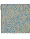 Tissu réversible jacquard d'ameublement Collection Nympheas Thévenon Réversible Bleu Gris Tissus - Biarritz