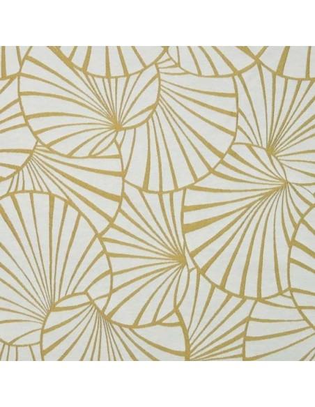 Tissu jacquard d'ameublement Collection Nympheas Thévenon gris mesure- Biarritz