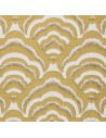 Tissu ameublement  jacquard osaka jaune THEVENON  recouvrement meuble patchwork - vente en ligne