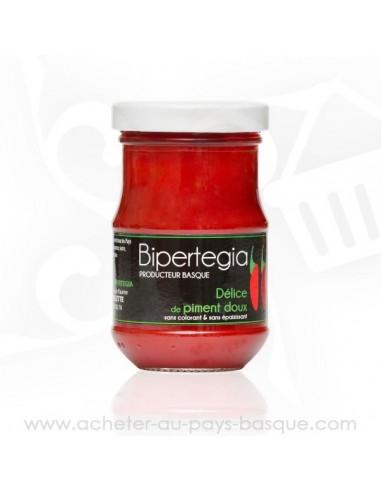 Délice de piment doux 100gr - Bipertegia producteur Basque - Espelette en vente sur acheter au pays basque .com