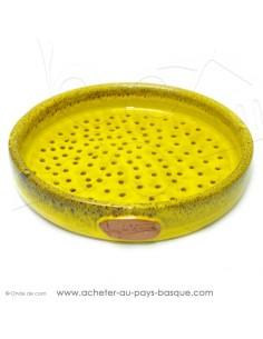 Plat à Tarte Rouge à trous Quiche Pizza en Terre cuite céramique - Poterie Jean de la Terre