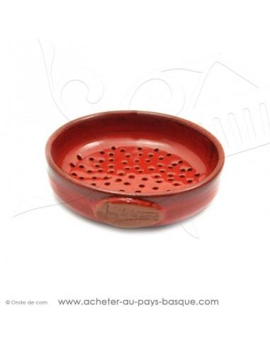 Plat à Tarte à trous Rouge 18 Quiche Pizza en Terre cuite céramique - Poterie Jean de la Terre
