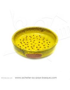 Plat à Tarte Jaune 18 Quiche Pizza en Terre cuite céramique - Poterie Jean de la Terre