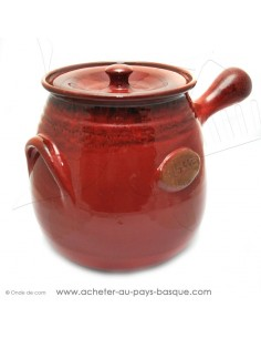 Daubière céramique rouge 4 litres - Terre cuite de Jean de la Terre