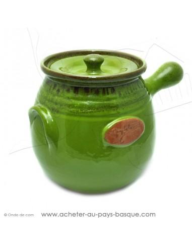 Daubière céramique verte 4 litres - Terre cuite de Jean de la Terre