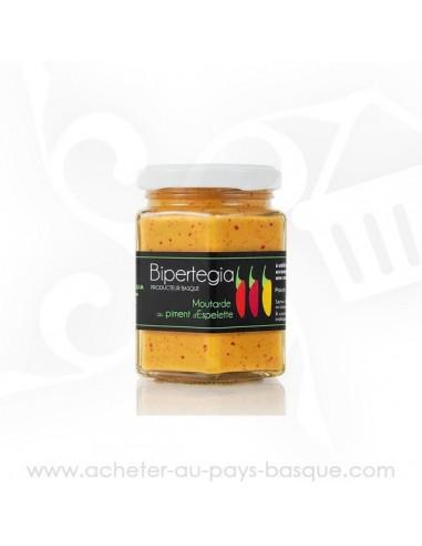 Moutarde de piment d'Espelette - Bipertegia producteur Basque - Espelette en vente